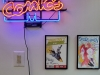neon sign and sketch covers